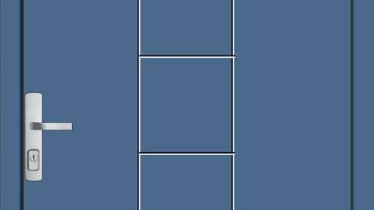 haustuer-blau